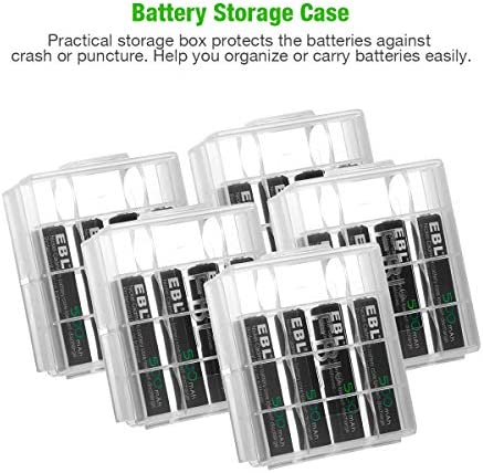 EBL AAA Rechargeable Batteries 20 Packs 1.2V 500mAh Ni-CD Battery High Temperature Performance for Solar Light
