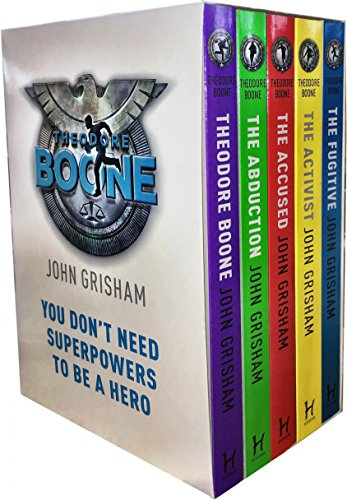 John Grisham  Theodore Boone Series Collection 5 Books Box Set  Theodore Boone  The Abduction  The Accused  The Activist  The Fugitive