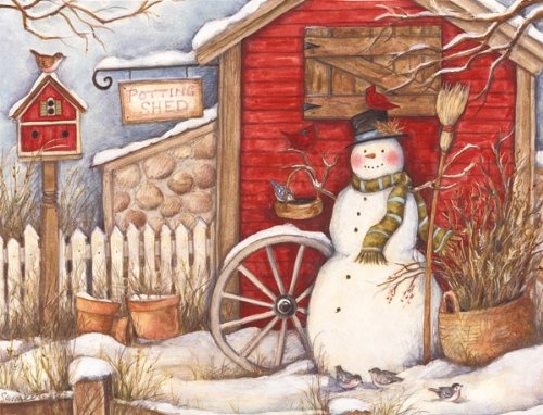 Lang Perfect Timing Winter Barn Boxed Christmas Cards, 18 Cards with 19 Envelopes (1004693)