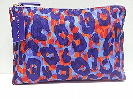 Estee Lauder azul y naranja animal print Make Up/bolsa de ...