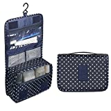 Sudion Cosmetic Bag, Portable Travel Hanging Toiletry Bag for Men Shaving Kit & Women Make Up Bag Organizer with compartments