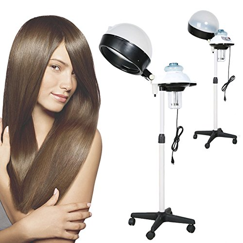 Hair Streamer and Dryer with Timer, Rolling Stand Steamer Dryerfor Beauty Salon and Home,110V (Hair Steamer, W)