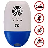 Ultrasonic Pest Repeller Against Mouse, Pest Control for Roaches, TCJOY Electronic Pest Repellent Plug In Multi-functional Intelligent, Indoor & Outdoor use, Insects Cockroach Rodents Fly Ants Spiders