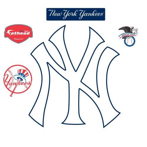 Fathead New York Yankees NY Logo Wall Decal