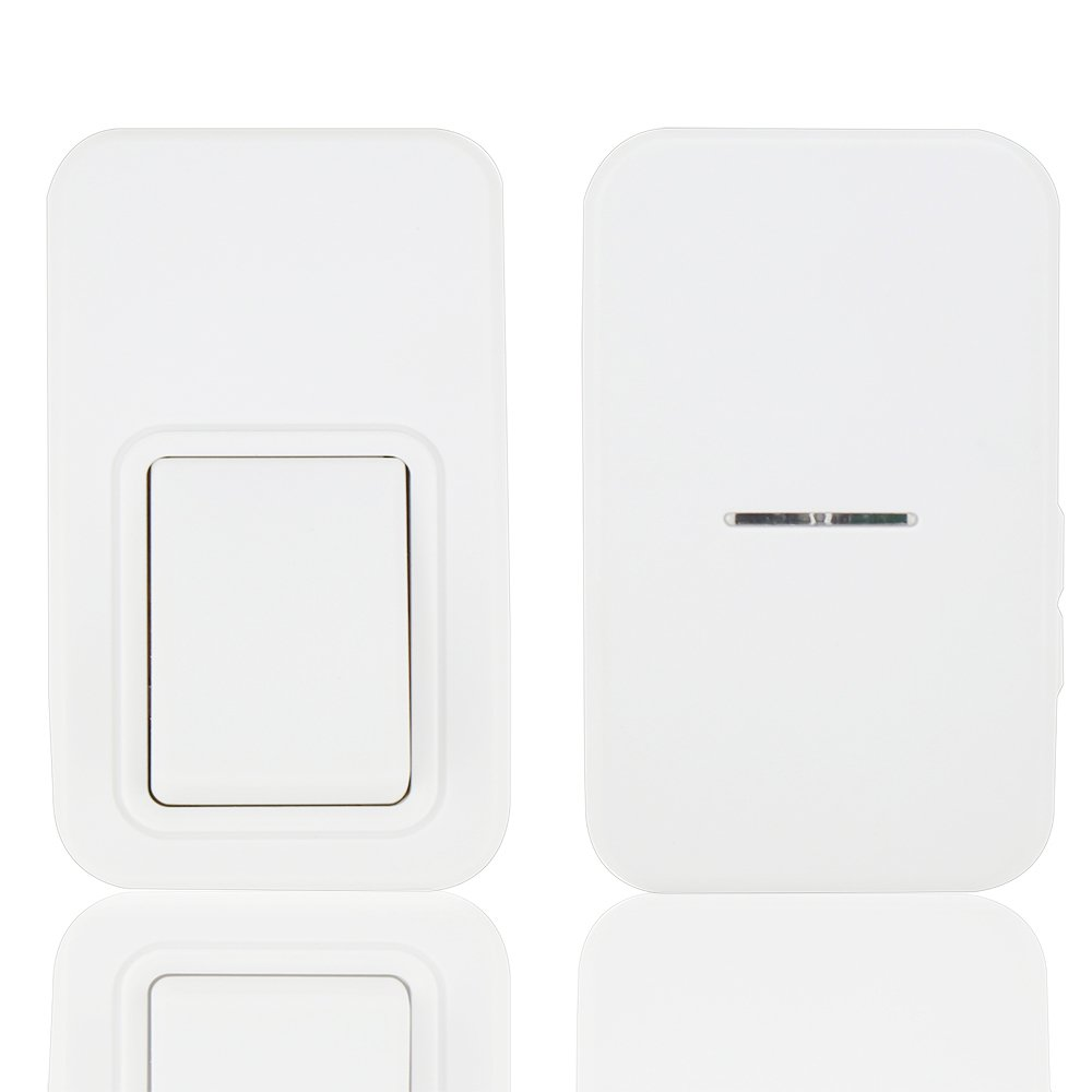 Wireless Doorbell Kit ANG Waterproof Door Chime No Battery Required for both Transmitter and Receiver 3 Level Volume 38 Ring Tones