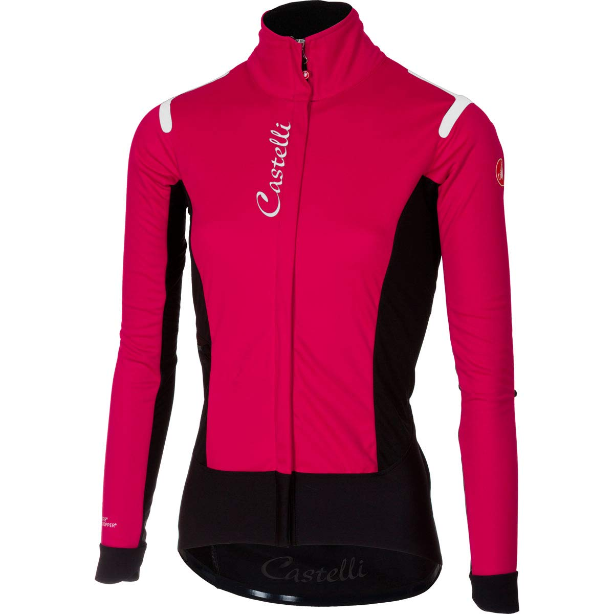 CastelliアルファRos Jacket – Women 's B07GXN71XF  Electric Magenta/Black Large