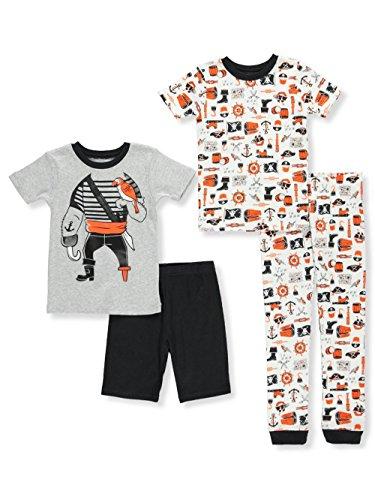 Carter's Baby Boys' 4 Piece Cotton Sleepwear (4, Black/Pirate)