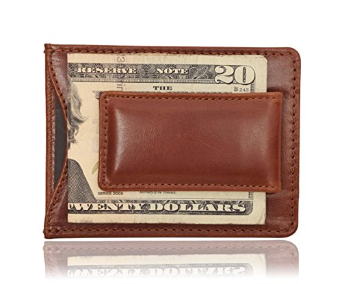 Elan Clip (V-élan Men's Vintage Leather Front Pocket Wallet 4