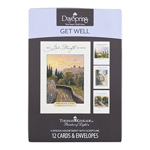 DaySpring Get Well Greeting Cards w Embossed Envelopes - Thomas Kinkade, 12 Count Photo #7