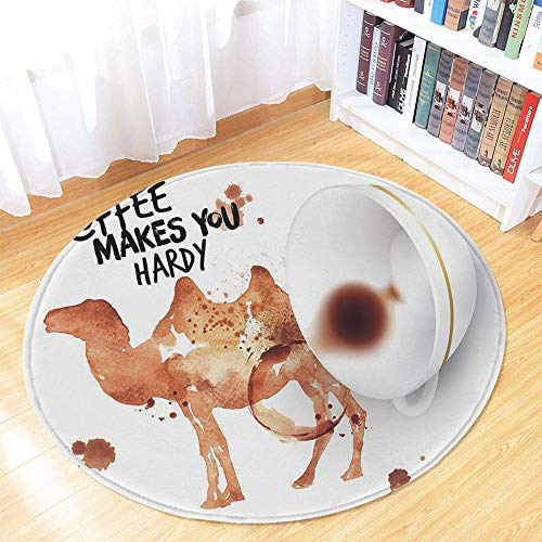 Coffee Art Water Absorption Non Slip Mat,Spilled Beverage Tasty Drink Be Hardy Theme Motivational Concept for Corridor Study Room Bathroom,35.43
