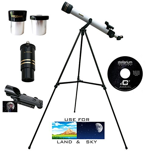 Cassini 600mm x 50mm Atronomical/Terrestrial Telescope Kit … by Cassini