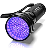 LOFTEK UV Flashlight Black Light, 51 LED 395 nM Ultraviolet Flashlight Perfect Detector for Pet (Dog/Cat) Urine, Dry Stains and Bed Bug, Handheld Blacklight for Scorpion Hunting
