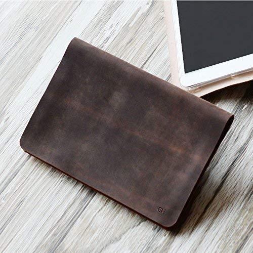 - Personalized Genuine Italy Vintage Leather Handmade Case for Apple Ipad mini 3 / mini 2 / mini 1 / mini 4 / air/air 2 / Pro 9.7 / Pro 10.5 / Luxury Leather Folio Cover (Distressed Brown)