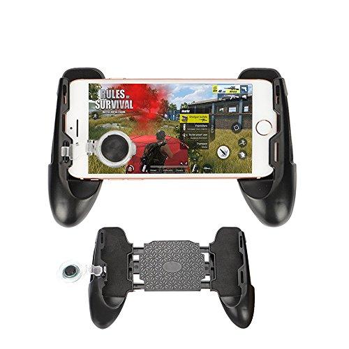 NBHOLDER Mobile PUBG Joystick Controller Grip Case for SmartPhones, Mobile Phone Gaming Grip with Joystick, Controller Holder Stand Joypad with Ergonomic Design (BLACK) by NBHOLDER