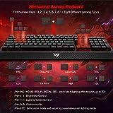 VicTsing Mechanical Gaming Keyboard, Wired Backlit