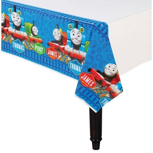 Thomas The Train Party Plastic Table Cover - Party Supplies - 1 per Pack by SmileMakers Inc