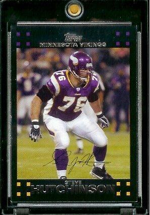 (2007 Topps Football # 284 Steve Hutchinson - Minnesota Vikings - NFL Trading Cards )