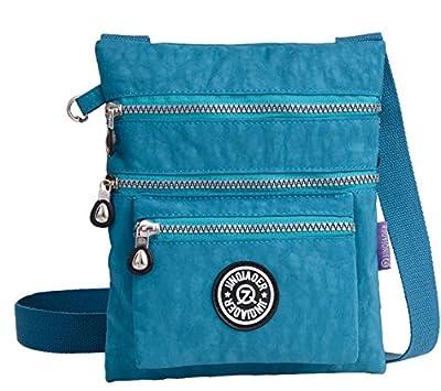 Govc Simple Lightweight Multi-pocket Waterproof Nylon Casual Shoulder Crossbody Bags Zipper Handbags