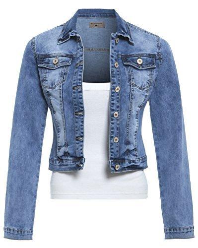 SS7 Nouvelles Femmes Veste En Jeans, Bleu Moyen, Tailles 8  14 Jean Bleu
