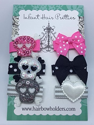 Diva Baby Girl, Baby Hair Bows, HAIR BOWS Made with VELCRO® brand fasteners for Baby Girls, bows, BABY SHOWER GIFT, Small Bows, Velcro Bows, Toddler Hair Clips, Skull Hair Bows