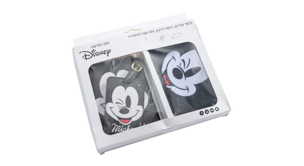 Set Voyage Couvre Passeport Masque Repos /Étiquette Didentification Mickey