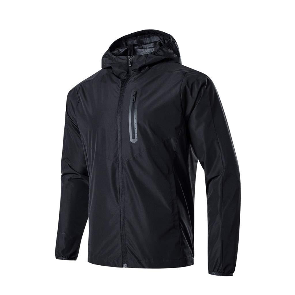 noir X-grand ZYMNL-YY VêteHommests de Pluie réutilisables pour Hommes Jack Veste imperméable + Costume de Pluie