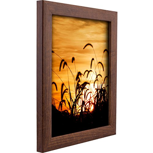 18in Wood - Craig Frames 23247616 12 by 18-Inch Picture Frame, Smooth Wood Grain Finish, 1-Inch Wide, Walnut Brown
