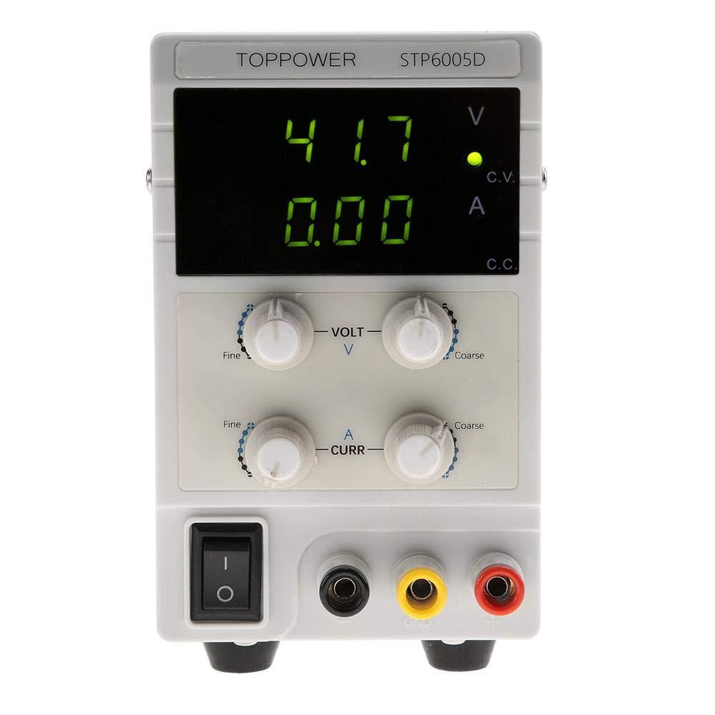 Alimentation STP6005D, Alimentation régulée CC de haute précision STP6005D 3 LED 300W 0-60V 0-5A Commutateur 110 / 220V(EU Plug 220V)