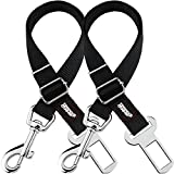 Cheap Friends Forever 2-Pack, Adjustable Black Nylon Dog Cat Car Seat-Belt, Vehicle Tether, Restraint Lead for Pets