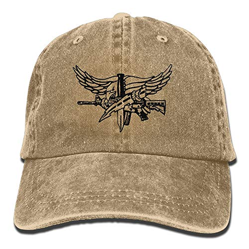 (SWAT Eagle Denim Dad Cap Baseball Hat Adjustable Sun Cap)