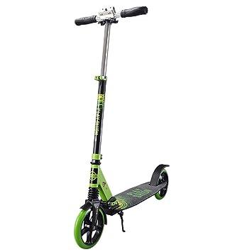CDREAM Scooter Patinete Plegable Rueda Grande 200 Mm Monopatín 2 Ruedas para Niños Adultos Aluminio,Green: Amazon.es: Deportes y aire libre