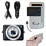 Gomadic Compact Multi External Battery Charge System designed for the Canon Powershot N. USB, Car and Wall charging connections
