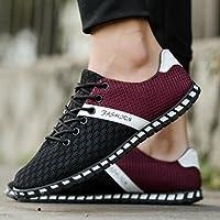 Wensltd Hombre Nuevo estilo casual zapatilla de deportes transpirable transpirable zapatillas