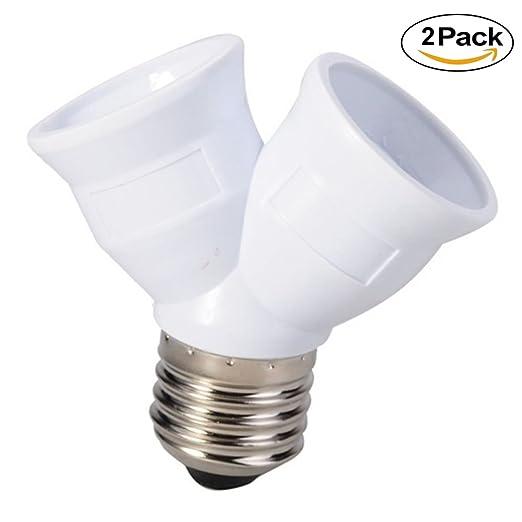 E27 a 2 E27 divisor adaptador de luz, favolook 2 pcs ...