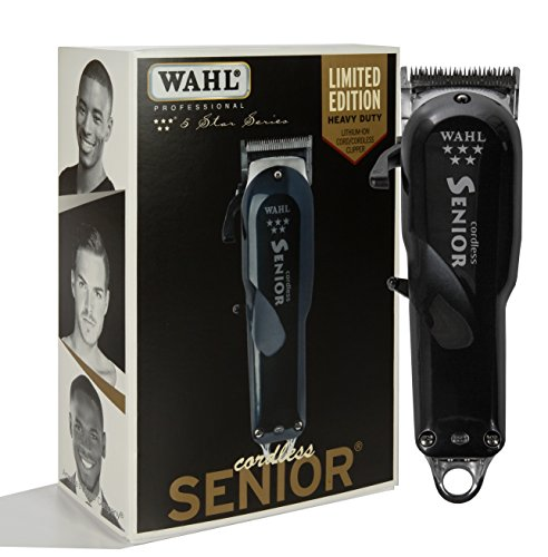 Wahl Professional 5-Star Series Cordless Senior Clipper #8504  Great for Professional Stylists and Barbers  70 Minute Run Time