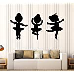 Large Vinyl Wall Decal Ballet Dancers Girls Ballerina Stickers Mural (ig4330)