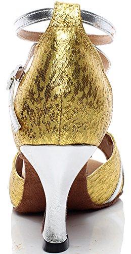 CFP Zapatillas de Danza de Material Sintético Para Mujer Dorado Dorado mPRbdKhDAk