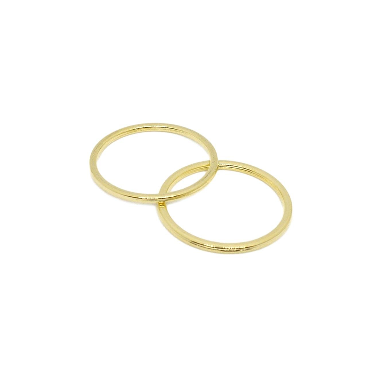 Porcelynne Gold Metal Alloy Replacement Bra Strap Ring - 1'' (25mm) Opening - 100 Pairs (200 Pieces) by Porcelynne