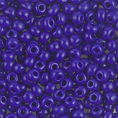 Miyuki Round Seed Beads Size 6/0 20g Opaque Cobalt