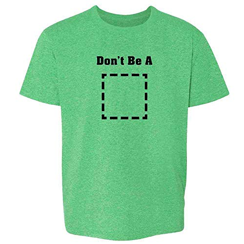 Pop Threads Don't Be A Square Funny Retro Cool Movie Heather Irish Green 2T Toddler Kids T-Shirt