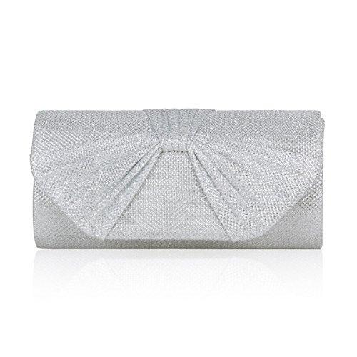 Silver Glitter Across The Body Bag - 3
