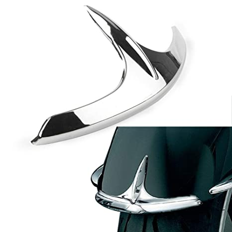 Flameer Chrome ABS Plastic Fairing Saddlebag Tail Light Accents Trims for Honda Goldwing GL1800 2001-2005