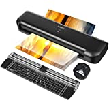 MATCC Thermal Laminator Machine for A3/A4/A6 Laminating Machine with Paper Cutter and Corner Rounder 13'' Max Lamination Width 2 Roller System Faster Warm-up Quick Laminating Speed Suit for Home Art
