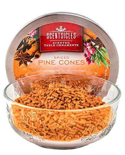 Scentsicles 01666-001 Spiced Pine Cone Table Ornament - Desk Pinecone