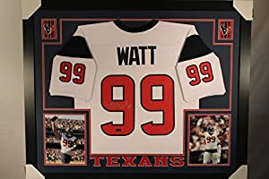 JJ Watt Autographed Signed Houston Texans Custom Framed 35x43 Jersey Certified Authentic Hologram & Coa Card