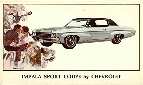 Chevy Impala Coupe (Chevy Impala Sport Coupe Cars Original Vintage Postcard)