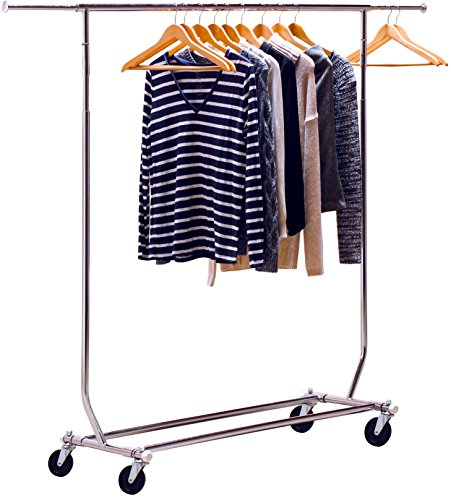 DecoBros Supreme Commercial Grade Clothing Garment Rack, Chrome by Deco Brothers