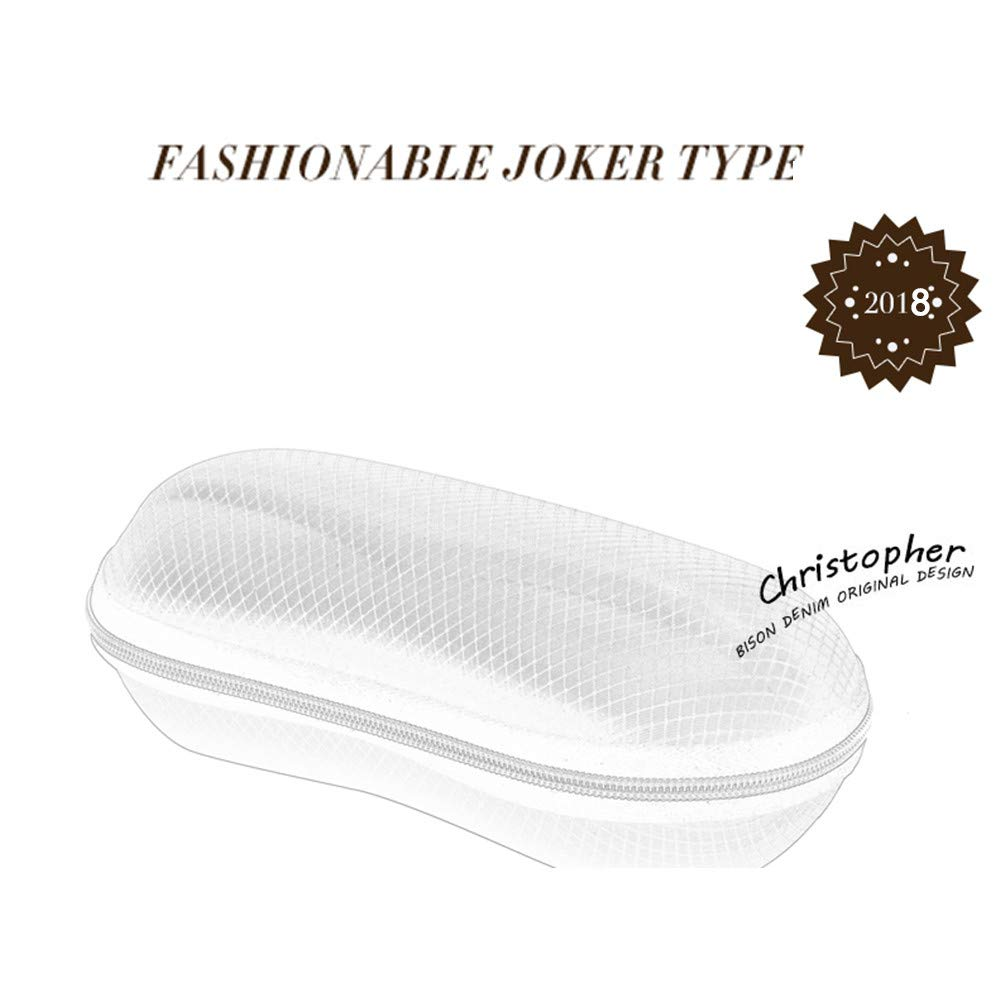 FORUU Glasses HINDFIEL New Round Fashion Zipper crush resistance Anti Peanut Sunglasses Box