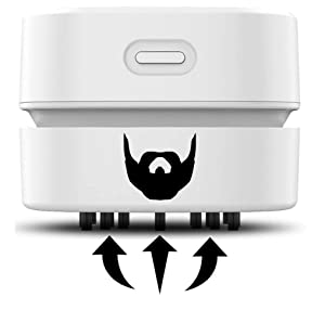 LumberVac - Clean Up Hair Clippings from your Beard Trimmer in Seconds - Handheld - Cordless and Rechargeable
