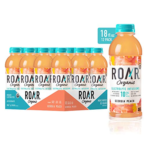ROAR Organic Electrolyte Infusions 12-Pack - USDA Organic with...